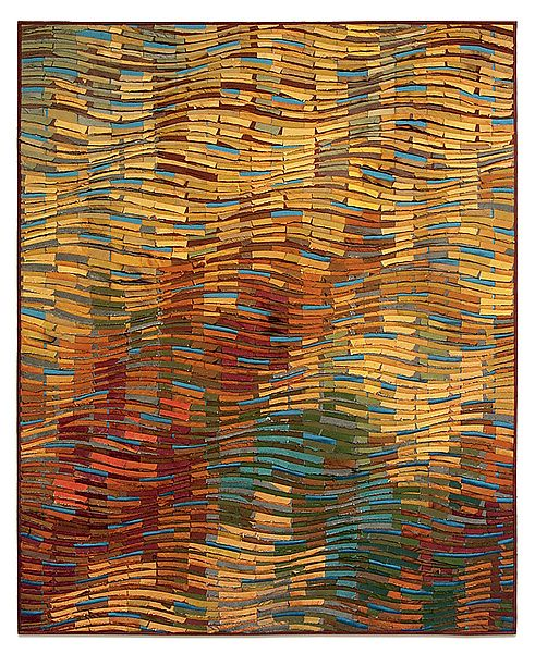 Autumn Wave I: Tim Harding: Fiber Wall Art | Artful Home