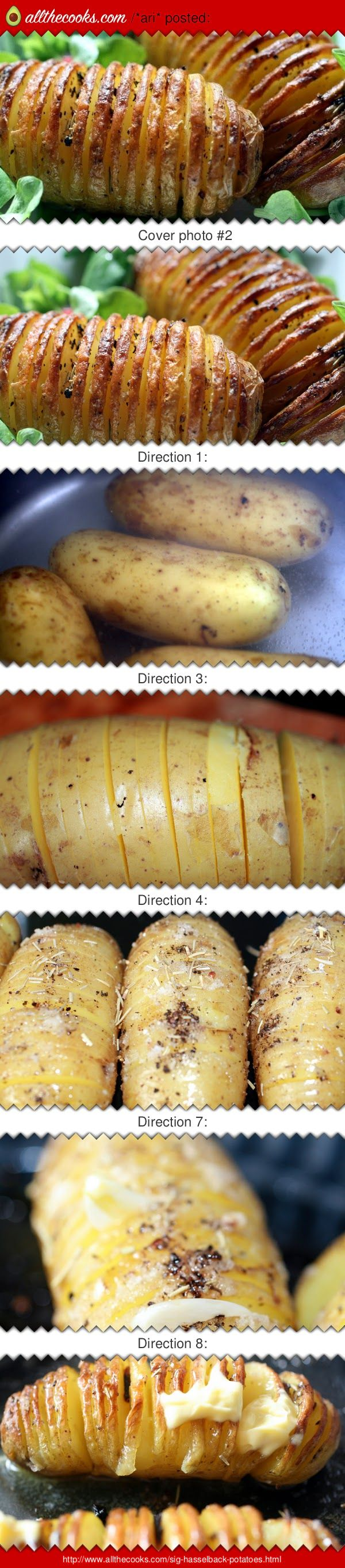 "Sig's++Humbles+(+hasselback+potatoes)!+4.73+stars,+11+reviews.+""This+dish+originates+from+Sweden+,+the+potatoes++are+named+after+the+town+Hasselbaken. I+ate+them+when+visiting+as+a+student.+ If+you+like+roast+,+fried+or+twice+baked+potatoes++you+propably+will+love+them.+ Sweden++has+a+wonderful+cuisine.+ +:hungry+:ohyeaah""+@allthecooks+#recipe+#potatoes+#easy+#potato+#hot+#side"