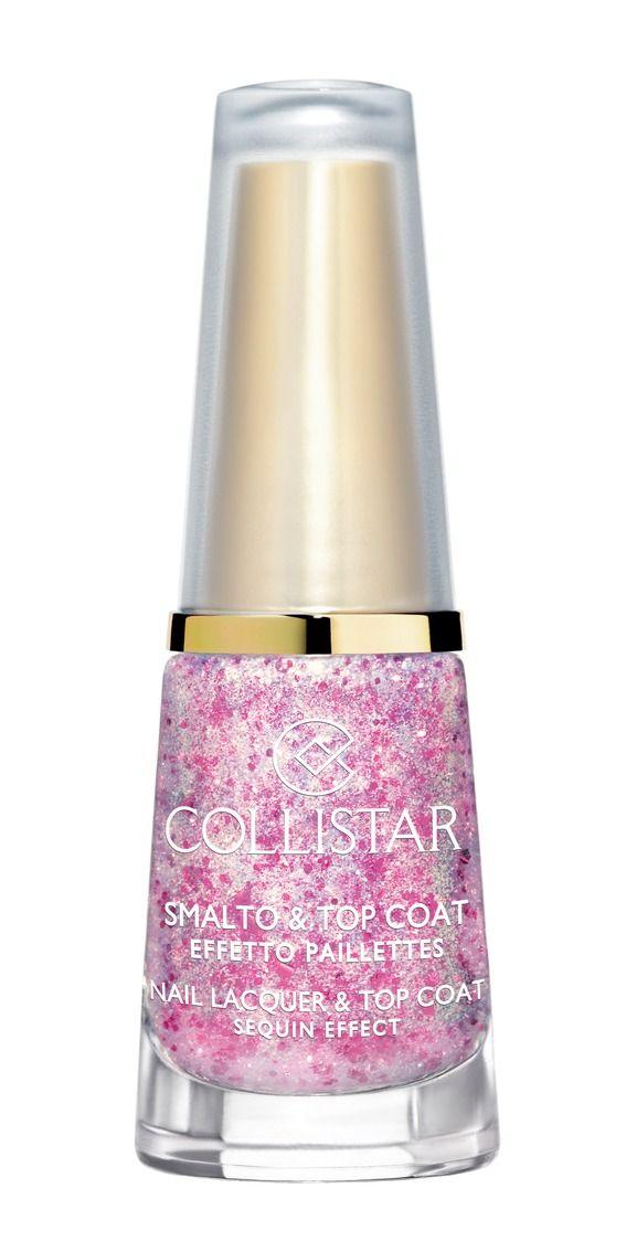 Smalto&Top Coat Effetto Paillettes n. 643 CORIANDOLI ROSA#collistar #summer #estate #colors #colori #nails #unghie #smalti #makeup #rosa #pink