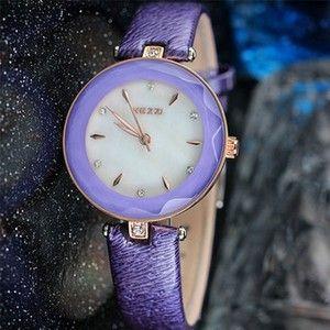 Kezzi moda de nova marca couro Azul Claro