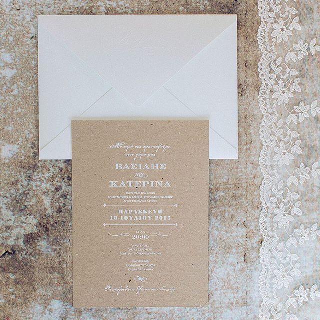 Rustic elegant wedding stationery  www.atelier-invitations.gr   Προσκλητήρια
