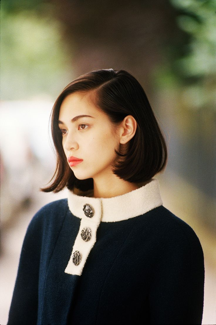 love the hair cute. Kiko Mizuhara