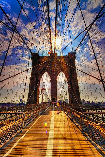 Brooklyn Bridge by Matt Pasant, via Flickr.............Some folks like to get away  Take a holiday from the neighbourhood  Hop a flight to Miami Beach  Or to Hollywood  But I'm taking a Greyhound  On the Hudson River Line  I'm in a New York state of mind ~ Billy Joel