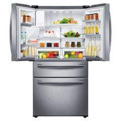 Shop Samsung 28.15-cu ft 4-Door French Door Refrigerator with Ice Maker (Stainless Steel) ENERGY STAR at Lowes.com