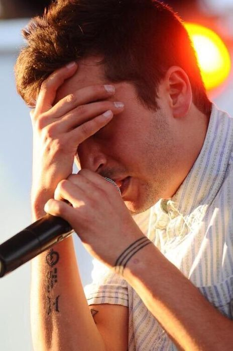 Tyler Joseph. Always writes inspirational and relatable lyrics. His lyrics reach the mind and the heart.