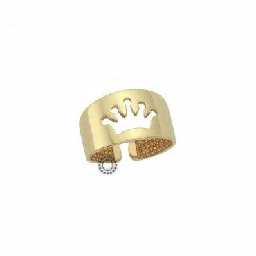 Δαχτυλίδι για νύχι Κ9 χρυσό. Ένα fashion μικρό δαχτυλίδι για νύχι ή σεβαλιέ από χρυσό Κ9 ανοικτό με στέμμα. Συνοδεύεται από εγγύηση ποιότητας. #σεβαλιε #στεμμα #χρυσο #δαχτυλίδι
