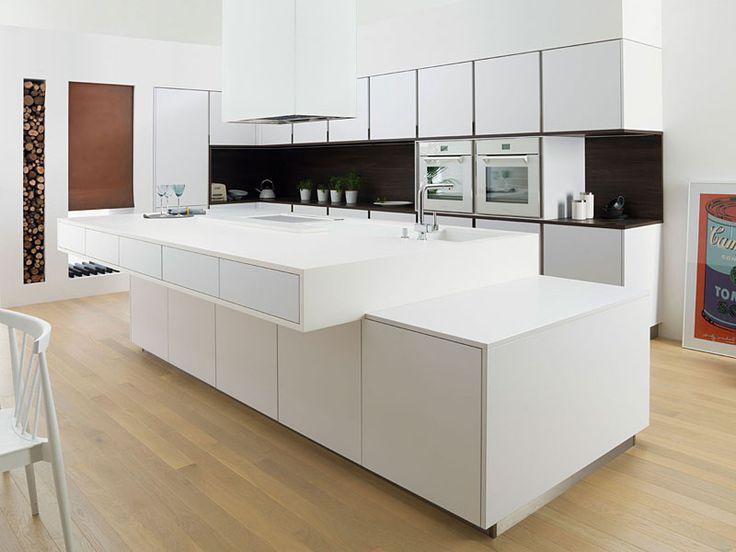 Cocinas Modernas Blancas Con Isla   285 Mejores Imagenes De Cocina Islas En Pinterest House