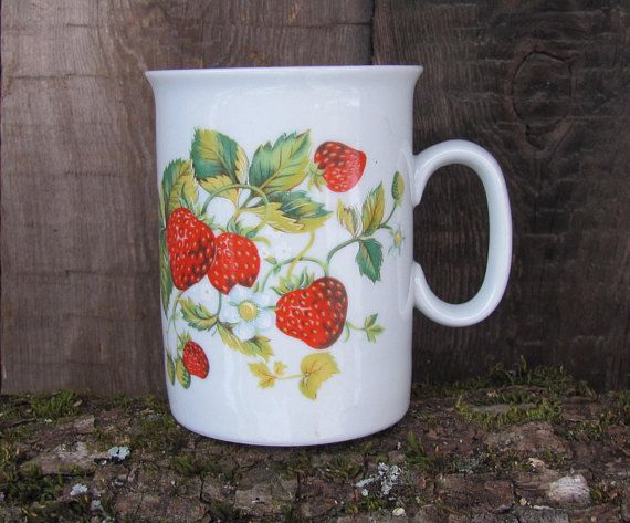 EPIAG Czechoslovakia Vintage Cup with Strawberries Vintage