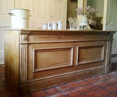 Beautiful Vintage Victorian Old Pine Shop Counter Serving Counter/Kitchen Island