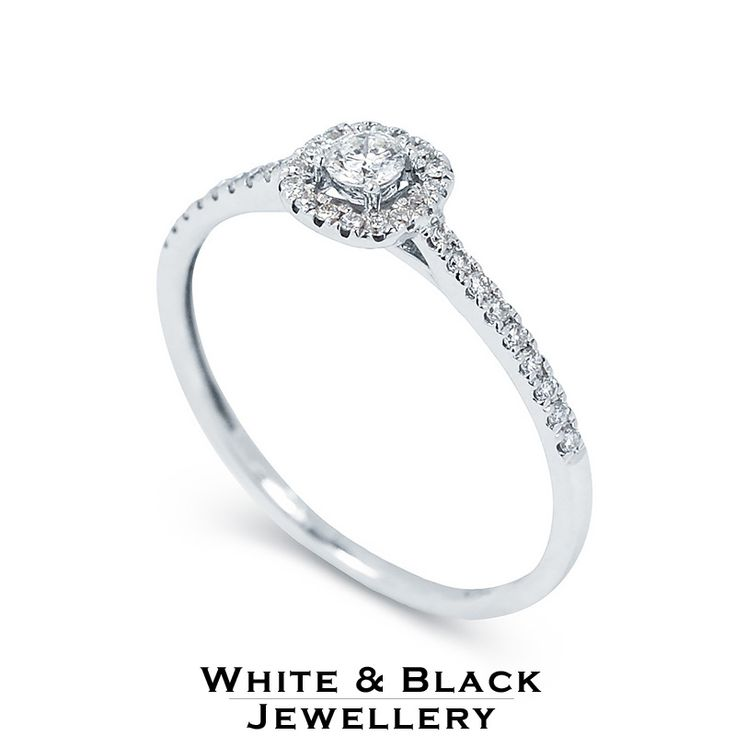Gyémánt eljegyzési gyűrű - Engagement ring with diamonds