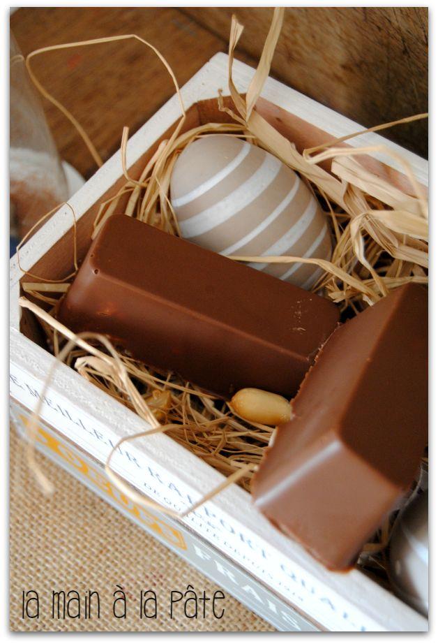 barres chocolatées aux cacahuètes et caramel au beurre salé