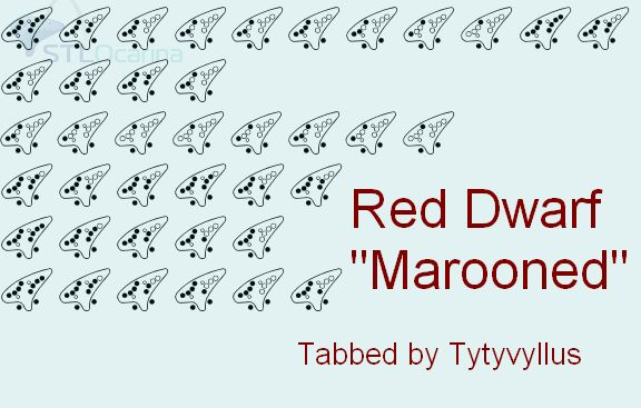 """Marooned"" Red Dwarf theme Cmaj   Ocarinas   Red dwarf ..."