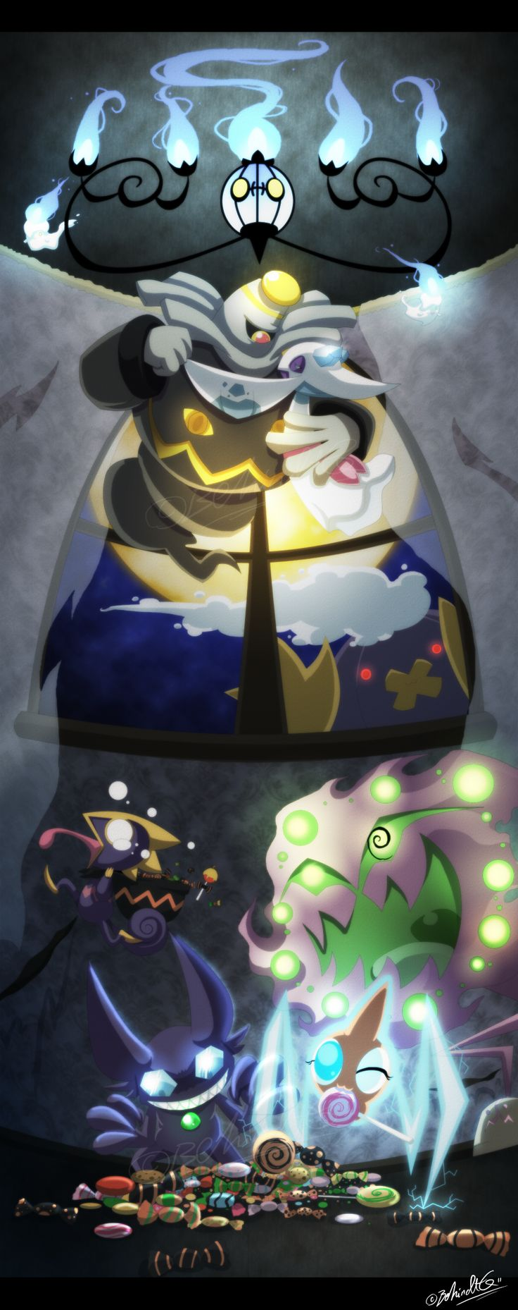 Ghost Pokemon<-- it's like beauty and the beast on top!! <3