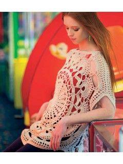 Wonder Wheel Top #crochet pattern via @crochetme