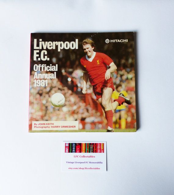 Liverpool FC Official Annual 1981 by LFCcollectables on Etsy