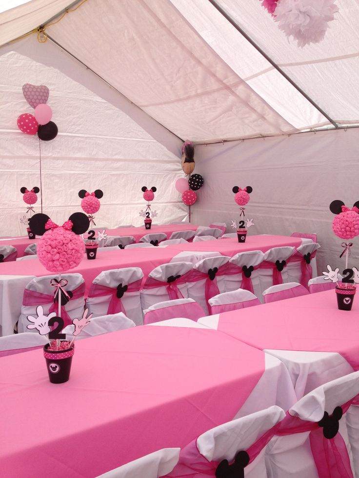 131 best baby girls 1st birthday images on pinterest for Baby minnie mouse decoration ideas