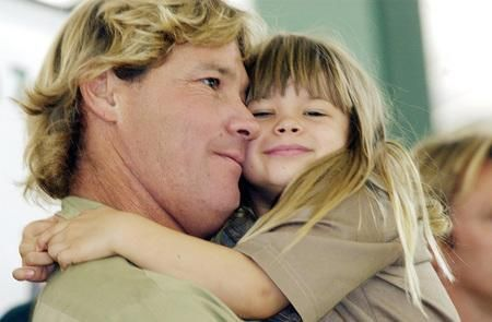 Steve & daughter Bindi Irwin  I sure do miss seeing Steve on TV.  He always seemed to love life and love sharing the natural world with us through his programs.  RIP, Steve.