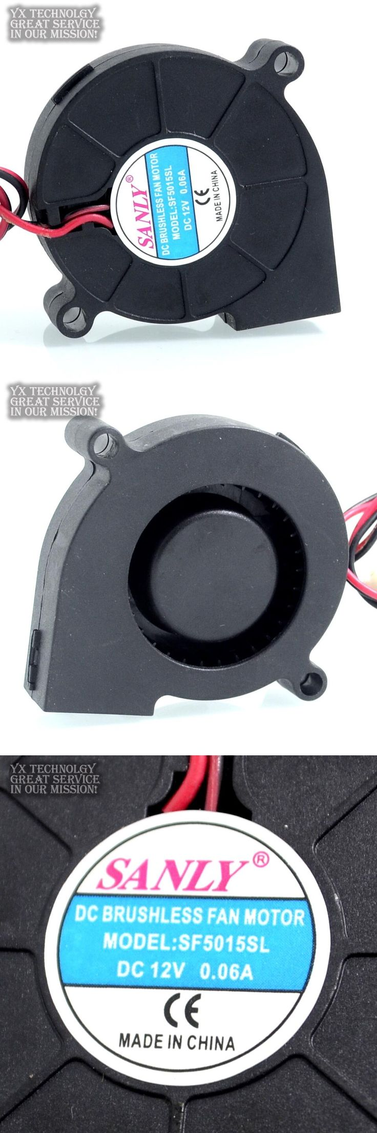 [Visit to Buy] Free Shipping SANLY SF5015SL DC 12V 0.06A Server Cooling Fan Server Centrifugal Blower Fan 2-wire 50x50x15mm #Advertisement