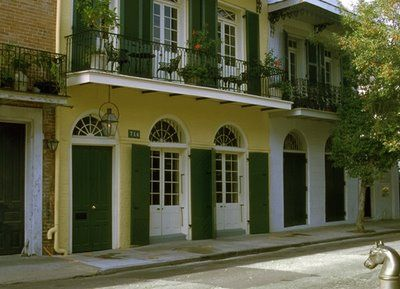French Creole architecture in the French Quarter of New Orleans