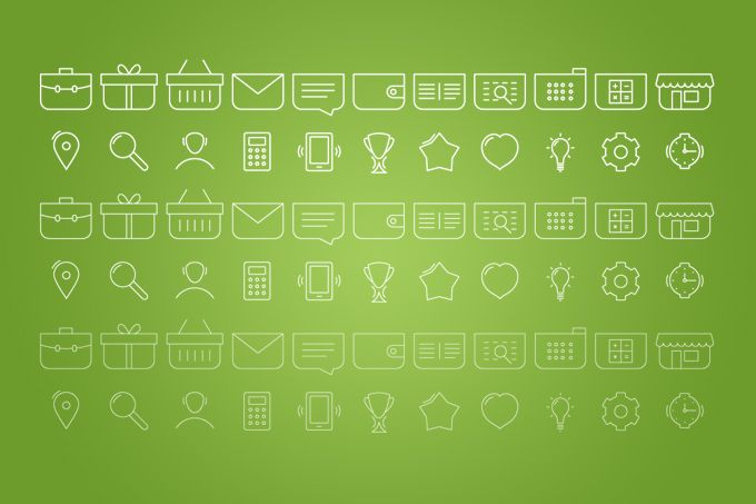 22 vector lined icons with 3differentthicknesses for e-commerce and…
