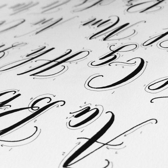 Top 25 Best Modern Calligraphy Alphabet Ideas On