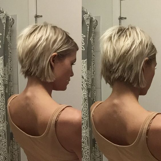 @krissafowles short blonde choppy hair: