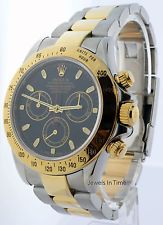 Rolex Daytona Oro 18k Y Acero Cronógrafo Para Hombre Reloj Automático & Caja 116523
