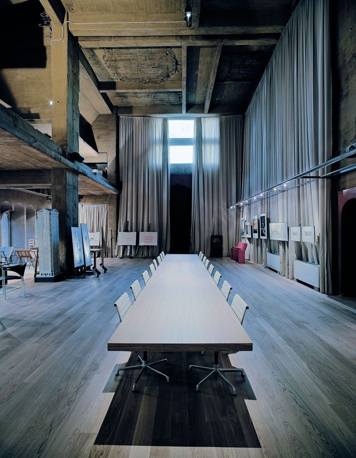 this would be a cool workspace!: Boards Rooms, Spaces Rooms, Exhibitions Spaces, Modern Architecture, Interiors Design, Bofil Ricardo, Cement Factories, Barcelona Spain, Home Offices