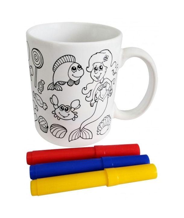 Tazas Para Colorear Pintar Ninos Tazas Con Pinturas Detalles Infantiles Tazas Para Pintar Caja De Carton Cajas