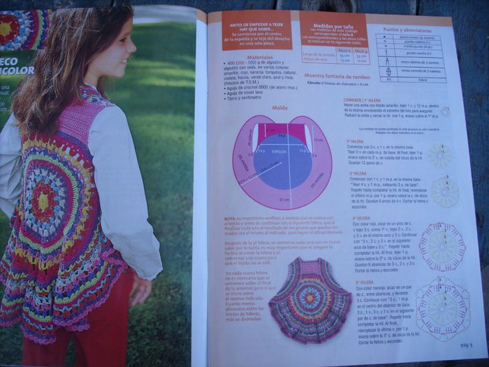 "Circular Vest ""Grandmother's rug"""