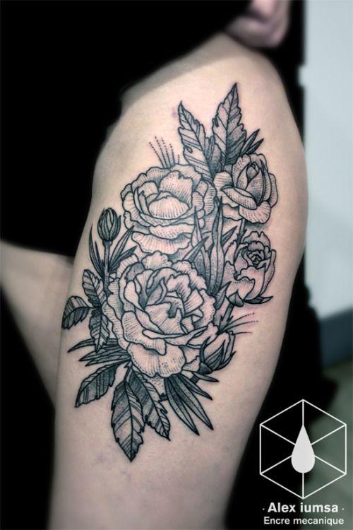 17 meilleures id es propos de tatouage pivoines sur pinterest dessins de fleurs pour. Black Bedroom Furniture Sets. Home Design Ideas