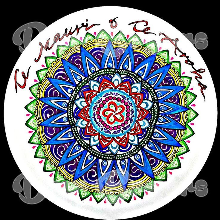 Business logo Mandala. Te Mauri O Te Aroha - The Energy of Love.