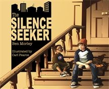 When a new family moves in next door, Joe's mum explains that they are asylum seekers. Joe hears that they are silence seekers, especially as Mum adds that they need peace and quiet. When he sees a young boy from the family sitting disconsolately on the steps, Joe decides to help him find a quiet place in the noisy and chaotic city