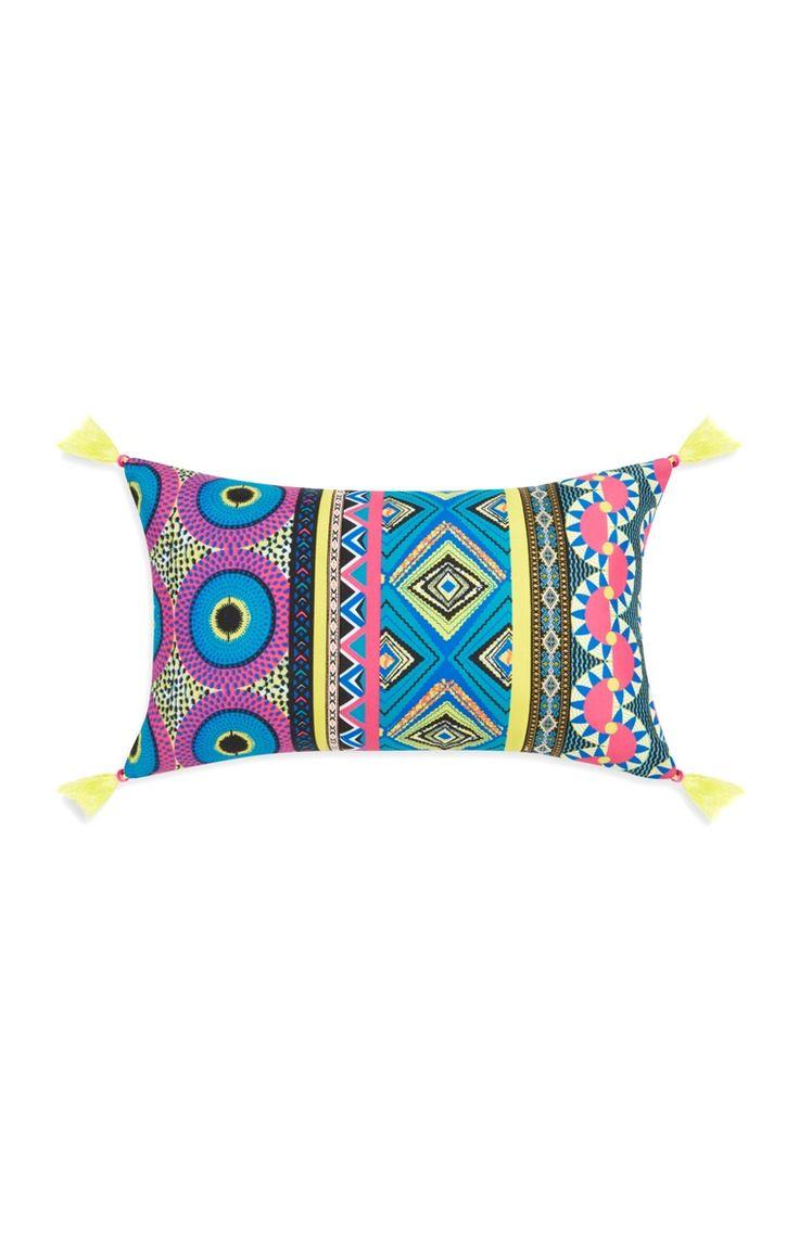 Primark - Statement Neon Tassel Oblong Cushion