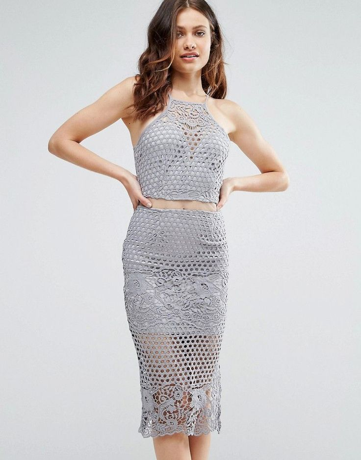 Get this Girl In Mind's midi dress now! Click for more details. Worldwide shipping. Girl In Mind Lexi Lace Strappy Midi Dress Grey - Grey: Dress by Girl In Mind, Crochet lace, Partially lined, Square neck, Cami straps, Sheer mesh insert to waist, Zip-back fastening, Slim fit - cut close to the body, Machine wash, 100% Polyester, Our model wears a UK 8/EU 36/US 4 and is 175cm/5'9 tall. (vestido por la rodilla, rodilla, media pierna, medias piernas, media piernas, medias pierna, medio largo…
