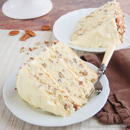 SOUTHERN !! Layered Creamy Butter Pecan Cake
