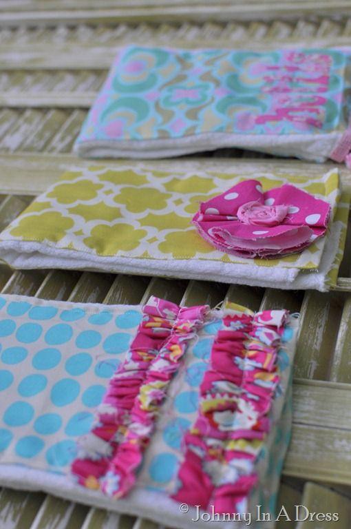 burp cloth tutorial, cute burp cloth, how to make a burp cloth