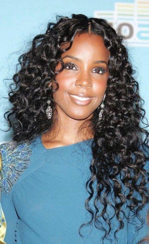 Cute Wet Hairstyles For Black Hair 12 #WeaveHairstylesBraids in 2020   Wavy weave hairstyles ...