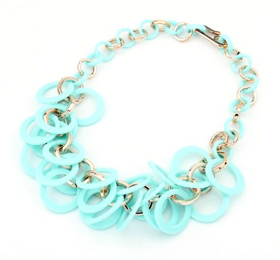 5 Colors Plastic Circles Alloy Link Chain Collar Chockers Chunky Party Statement Necklaces Pendants Summer Jewelry for Women-in Chain Necklaces from Jewelry on Aliexpress.com   Alibaba Group