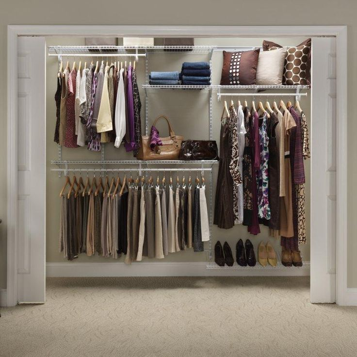 ClosetMaid ShelfTrack 5-8 Ft. Closet Organizer Kit