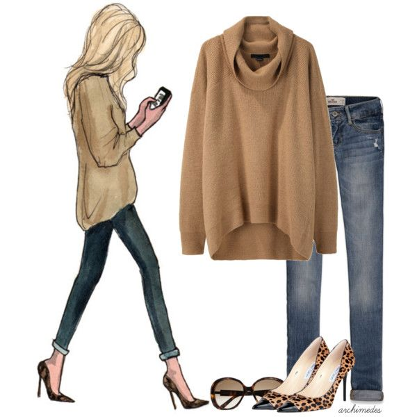 I love a cute oversized sweater...love it paired with a killer pair heels and jeans!!