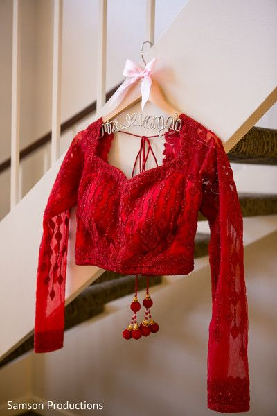 Red Lengha Blouse http://www.maharaniweddings.com/gallery/photo/77658