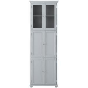 Home Decorators Collection Hampton Bay 25 in. W x 72 in. H x 14 in. D 6-Door Bathroom Linen Storage Tower Cabinet in Dove Grey 7784660270 at The Home Depot - Mobile