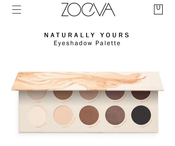ZOEVA - NATURALLY YOURS sur Sephora ou Zoeva