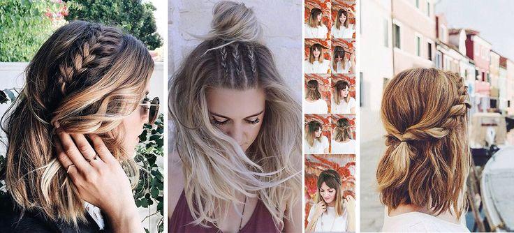 Las trenzas nos encantan. Son perfectas para ahorrarnos tiempo y crear peinados muy lindos. Y si crees que no puedes hacerte una por tu cabello corto, checa estas ideas. No necesitas una melena larga y se ven increíbles. Siestás dejando crecer tu fleco ponlo de lado y haz la trenza un poco atrás. La dará …