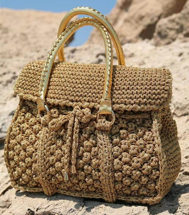 Crochet Fancy Bags : crochet bag crochet handbags crochet knitting bags fever purses bolsas ...