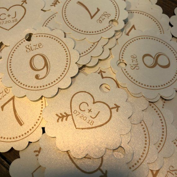 86c14133e6ab Flip Flop Size Tags • Flip Flops for Wedding Guests Sign • Wedding ...
