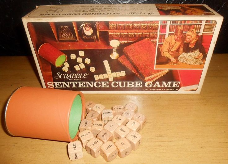 VTG 1971 Scrabble Sentence Cube Game No. 96 by Selchow and Righter (Incomplete) #SelchowRighter