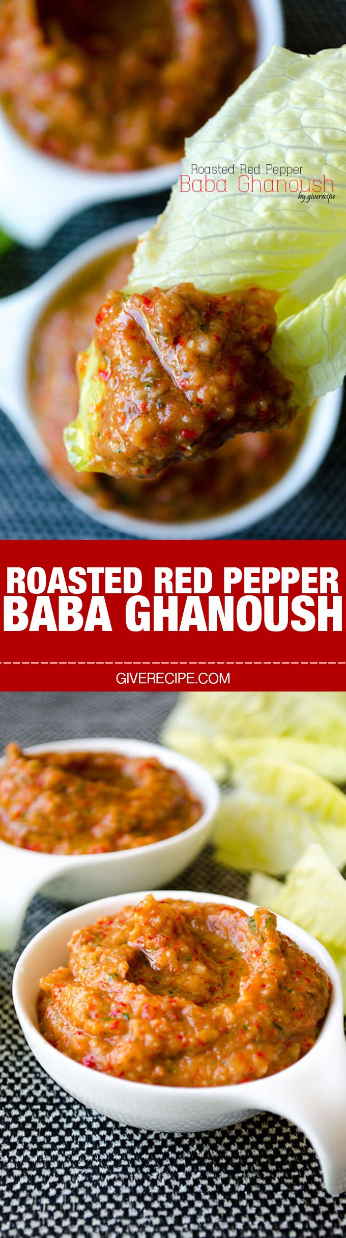 Tangy and garlicy roasted red pepper baba ghanoush makes a wonderful light snack… – Tracey Chan Design