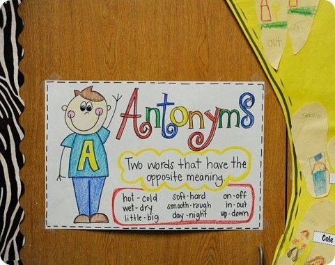 Antonym Anchor Chart by della